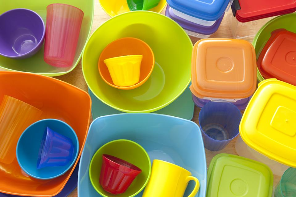 selection of tupperware